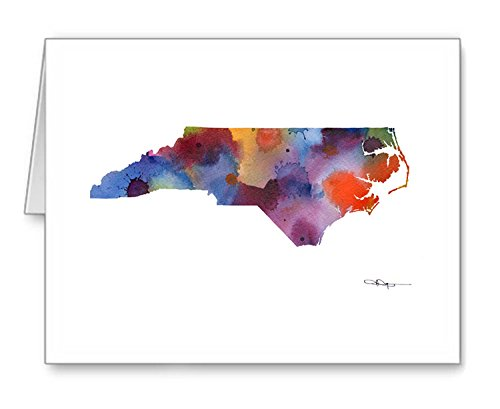 ''North Carolina'' - Set of 10 Note Cards With Envelopes by DJ Rogers Fine Art