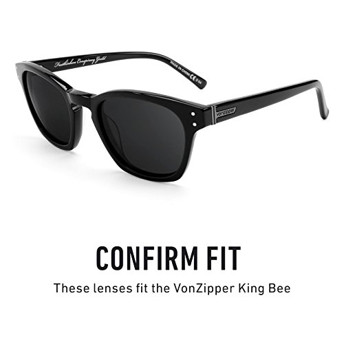 Chrome múltiples de — Lentes repuesto para Mirrorshield Polarizados King Zipper Von Negro Bee Opciones Pz1nq