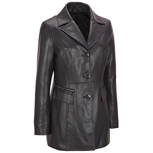 Wilsons Leather Womens Plus Size Button Front Leather Jacket W/Zipper Detail PO (Genuine Leather Jacket Coat)