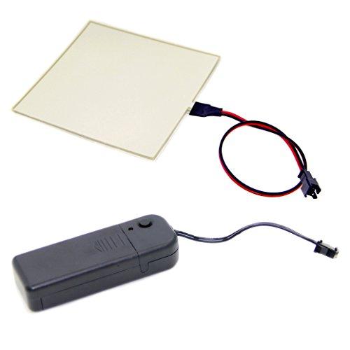 10x10cm El Backlight, El Panel + 3v Controller + (Aqua)