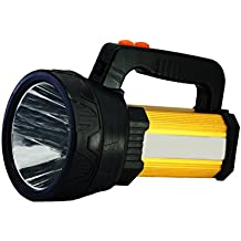 LED Rechargeable Handheld Searchlight,Super Bright 11000 LUMENS Outdoor Spotlight Flashlight with 5 Light Model&8000mah Power bank (Black)