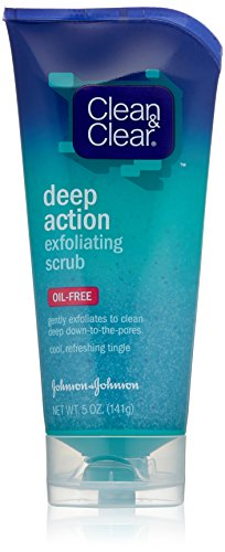 Clean Clear Deep Action Exfoliating Scrub Oil-Free, 5 Ounce Pack of 3