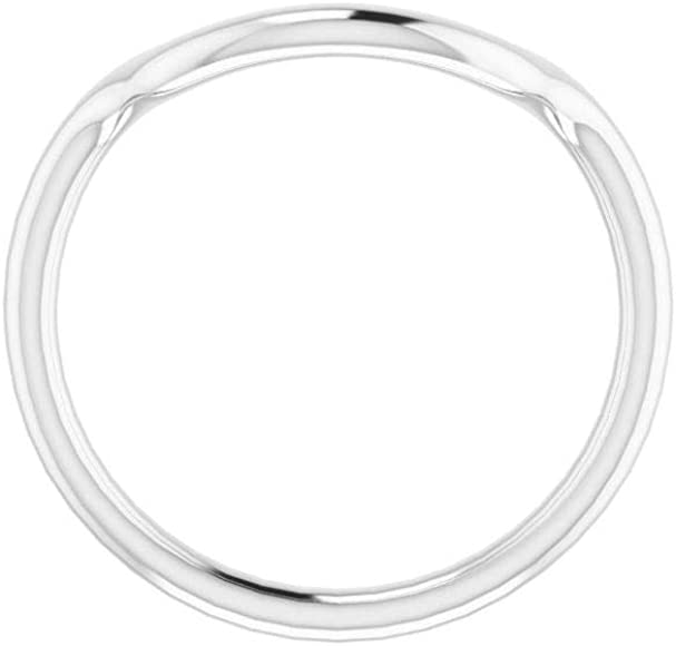 Bonyak Jewelry Continuum Sterling Silver Band for 6 x 6 mm Cushion Ring Size 7