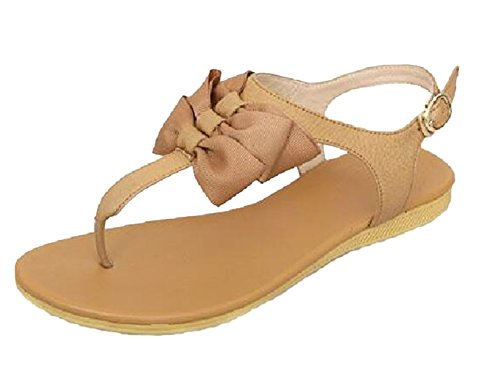 Insun - Sandalias de vestir de Material Sintético para mujer Beige - rosa grisáceo claro