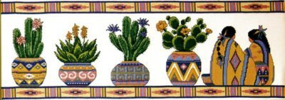 - Design Works Counted Cross Stitch kit - Cactus Row