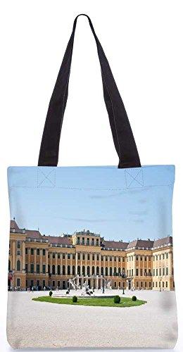Snoogg Gelben Palast Einkaufstasche 13,5 X 15 In Shopping-Dienstprogramm Tragetasche Aus Polyester Canvas