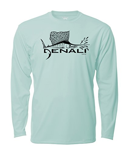 Denali Performance Men's UPF 50+ ProtectUV Mega Solar Long Sleeve T-Shirt with Denali Sailfish Logo (Long T-shirt Action Sleeve)