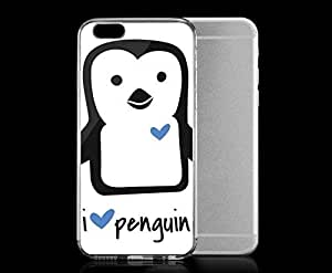 Light weight with strong PC plastic case for iphone 5c Lifestyle Animals I HEART Penguin