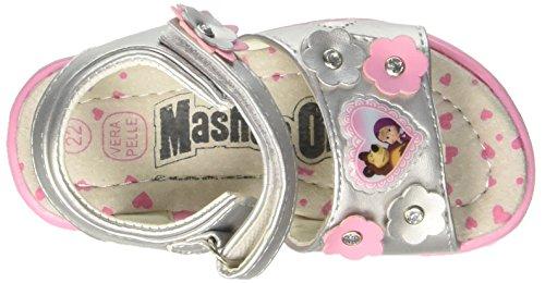 MASHA E ORSO S15712waz - Patucos de piel sintética para niño plateado