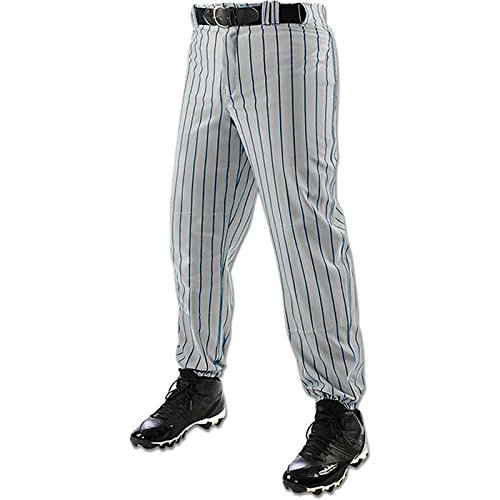 Champro Youth Triple Crown CloserピンストライプBaseball Pant B01C7JKGIM Large|グレー/ネイビー グレー/ネイビー Large