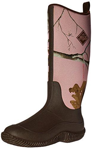 Women's Muck Pluie de Bottes Camo Boots Print Hale et Femme Marron Bottines rFqSwr