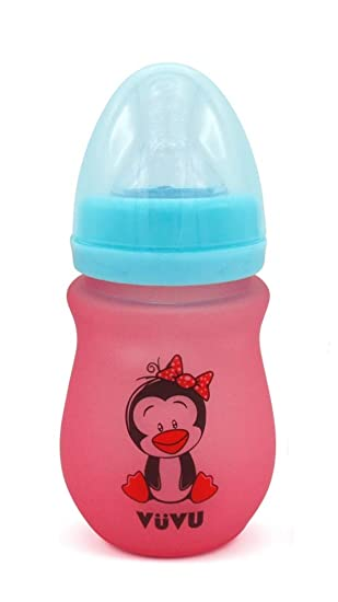180ML Wide Neck Baby Infant Milk Feeding Nipple Bottle Learn Drinking Anti-colic