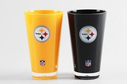 Amazon Com Pittsburgh Steelers Tumblers Set Of 2 20 Oz
