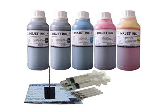 ND R@ 5X250ML Refill Ink for Canon 243 240 245 244 PG-243 PG-240 PG-245 CL-244 PIXMA MG3020 TS202 TS302 TS3120 TS3122 -  Dinsink, 5X250ML/S-C243
