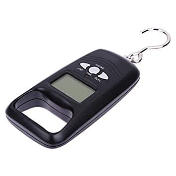 50kg//10g LCD Digital Hanging Travel Suitcase Portable Weight Hook Scale