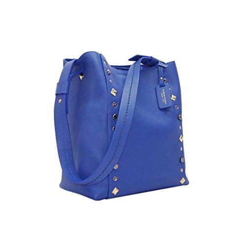 PLINIO VISONA' Damen Janis Schultertasche, Blau (Bluette), 15 x 33 x 31 cm