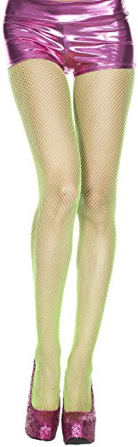 - ToBeInStyle Women's Sexy Seamless Fishnet Full Footed Panty Hose Tights Hosiery (One Size Regular, Light Green)