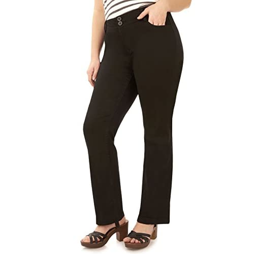 1873f750a0 WallFlower Juniors Plus Size Luscious Curvy Bootcut Chino Pants delicate