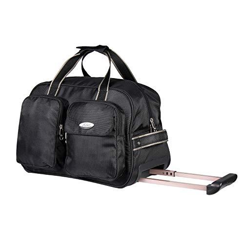 Fbi Fabco 18 Inch STRL DFL Black Duffel Strolley Bag