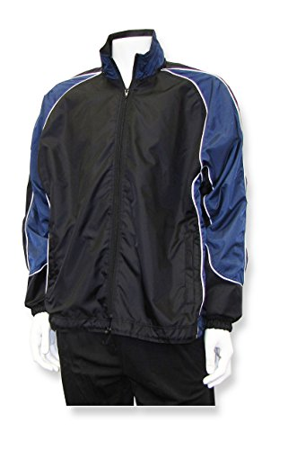 Viper soccer warm-up jacket with detachable hood - size Adult XL - color Black/Navy