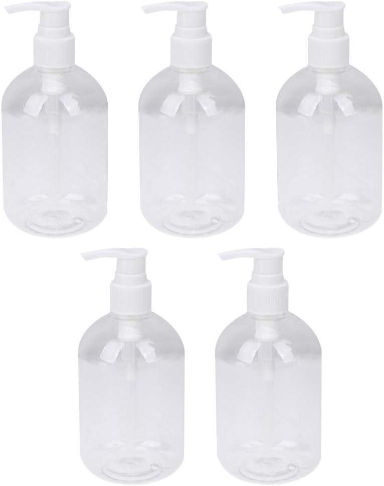 Beaupretty 5 Piezas 350 Ml Botellas de Spray Recargables Botellas de Loción Alcohol Desinfectante de Manos Pulverizador Contenedor de Viaje Botellas de Jabón (Blanco)