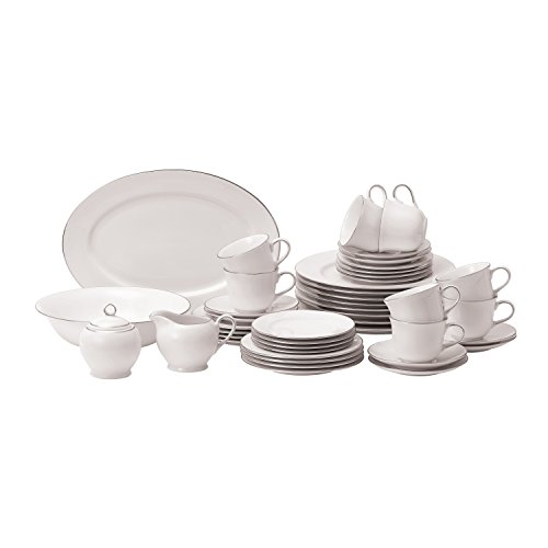 (Royal Doulton Simply Platinum 45-Piece Dinnerware Set, Service for 8)