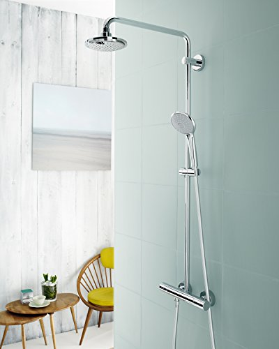 Grohe 26128000 Euphoria Shower System 180 With Thermostat For Wall  Mounting, Chrome     Amazon.com