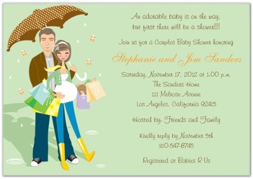 Amazon Com Hip Couples Baby Shower Invitations Set Of 20