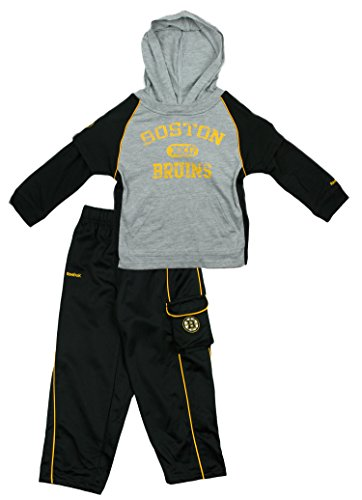 Reebok NHL Boston Bruins Toddler Faux Layer Shirt and Pants Set - Ash/Black (2T)