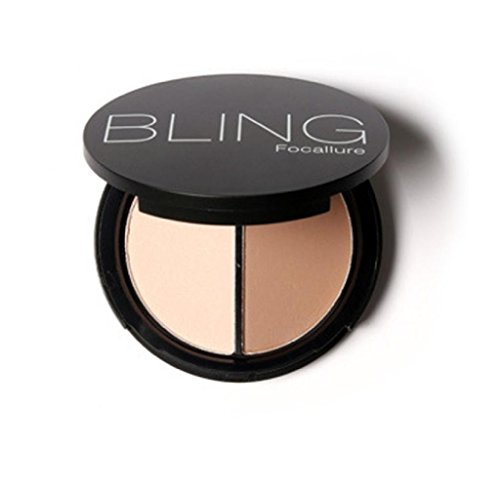 Anboo Bling Make up Face Bronzer & Highlighter 2 Diff Color Concealer Matte Powder (02)