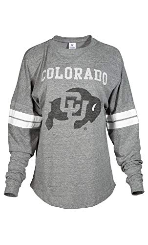 - Official NCAA University of Colorado Buffaloes CU Fight Buffs Women's Long Sleeve Tri- Blend Football Tee