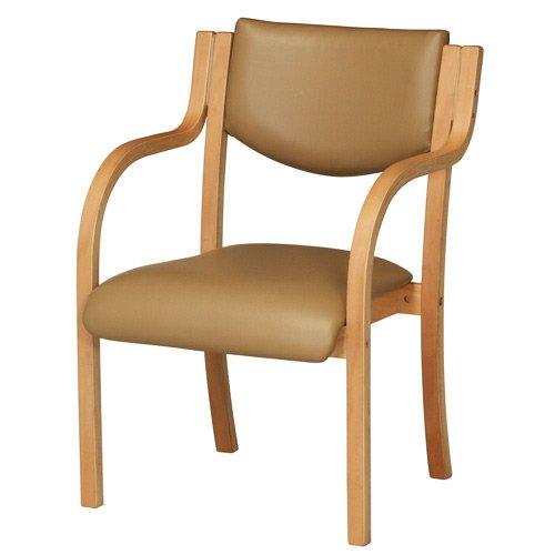 ダイニングチェア 完成品 木製 椅子 ダイニングチェアー スタッキングチェア 肘付 LDCH-1-S (ベージュ) B014QQD18G ベージュ ベージュ