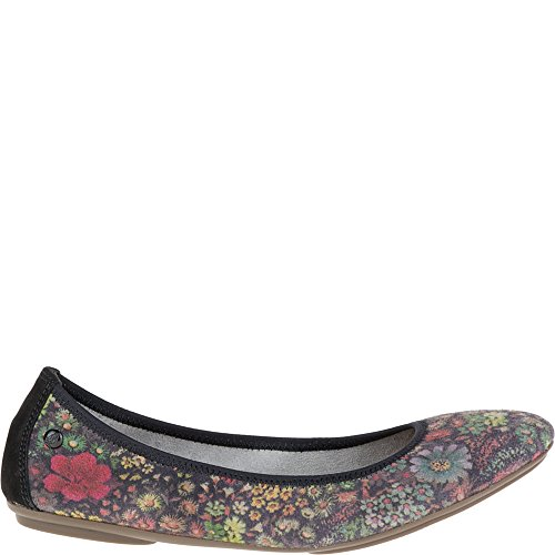 Hush Puppies Suede Black Mary Ballet Women's Chaste Flats Jane Floral OOdqwrf