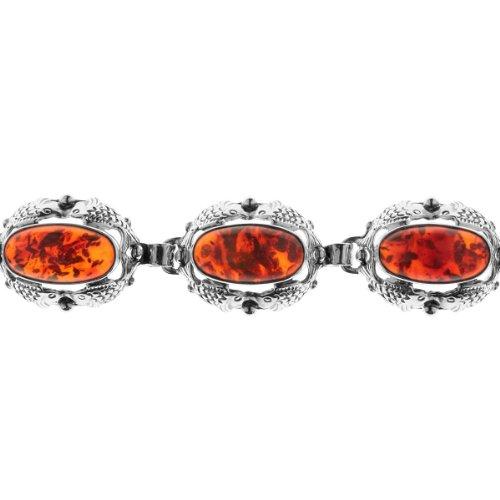 Ostsee-Schmuck - 001 210002 0002 - Bracelet Femme - Argent 925/1000 - Ambre