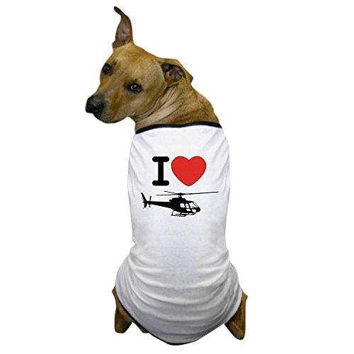 Heart Helicopter (CafePress - I Heart Helicopter Dog T-Shirt - Dog T-Shirt, Pet Clothing, Funny Dog Costume)