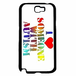 I Love Someone With Autism Plastic Phone Case Back Diy For SamSung Note 4 Case Cover