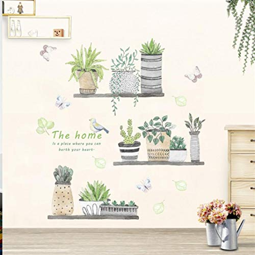 Rumas Cactus Wall Stickers Decor Kids Room - Art Removable DIY Wall Murals Family Decoration - Waterproof Wall Decals (Mulitcolor)