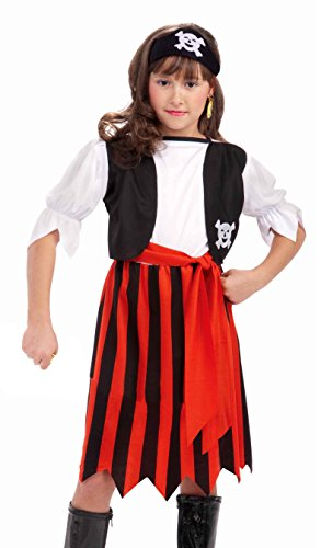 Forum Novelties Pirate Lass Costume, Child Large