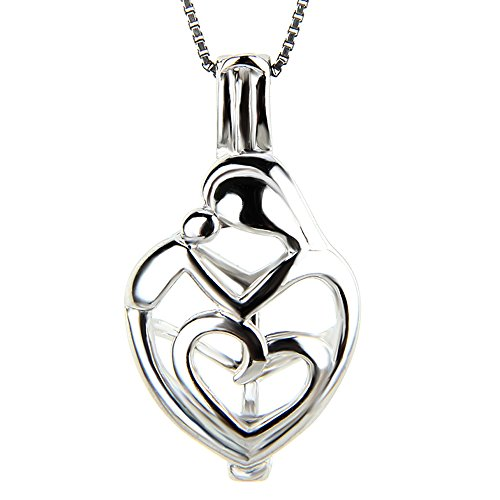 925 Sterling Silver Love Pendant (1 Piece 925 Sterling Silver Mother love Locket Pendant)