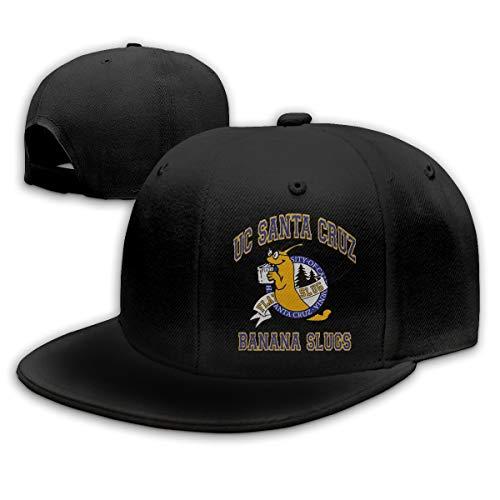 Kssden Unisex Cotton Baseball Cap UC Santa Cruz Banana Slugs Adjustable Casual Dad Hat Outdoor Trucker Cap Black