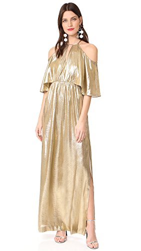 Boho-Chic Vacation & Fall Looks - Standard & Plus Size Styless - Rachel Zoe Women's Marlene Dress, Gold, 2