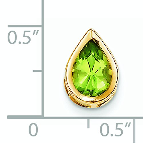 9 carats 14 x 6 mm péridot poire JewelryWeb-Pendentif à chaton