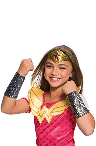 [Rubies Costume DC Superhero Girls Wonder Woman Accessory Kit, One Size] (Superhero Child Costumes Kit)