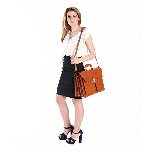 Business Cuir En 39x30x18 Borse documents Italien Femme Et Chicca Cartel Italy In Bag Cm Homme Porte Made vSIHnwA