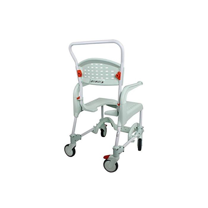 41Th9UpSo9L CLEAN es lo último en diseño de sillas para la higiene. Cómoda, segura y fácil de usar. Cada detalle de la Silla de ducha y w.c. ha estado pensado para que cualquier situación sea de lo más fácil para el usuario y para el cuidador. Esta silla es apta para la ducha.