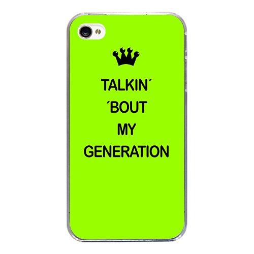 """Disagu Design Case Coque pour Apple iPhone 4 Housse etui coque pochette """"TALKIN´ ´BOUT MY GENERATION"""""""