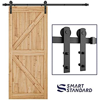 Smartstandard 66ft Heavy Duty Sturdy Sliding Barn Door Hardware Kit