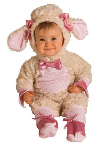 Lamb Infant Costumes Pink (Baby Lamb Costume - Pink 6-12)