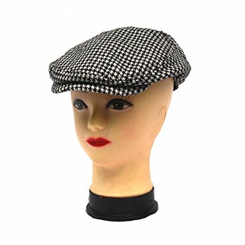 BuyMerchant Wool Blend Hound's-Tooth newsboy Cap – IVY Cap (M/L-58CM)