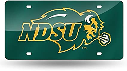 NCAA North Dakota Fighting Hawks Laser Inlaid Metal License Plate Tag Rico Industries Inc LZC410602